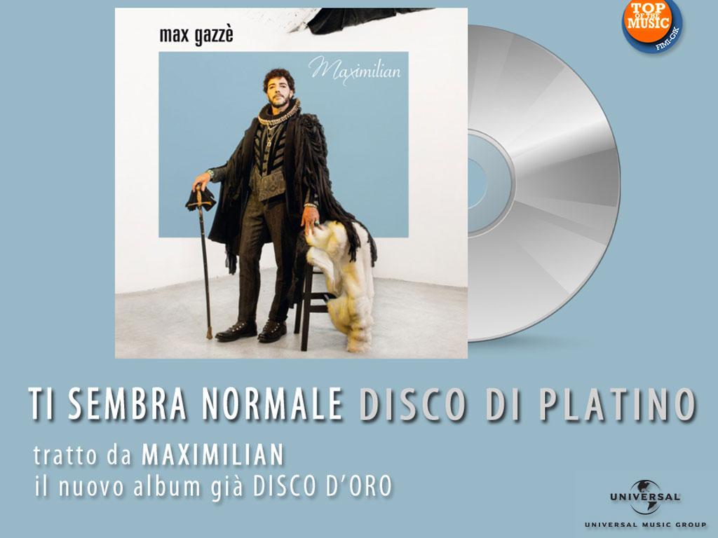 Max Gazzè è Disco di Platino